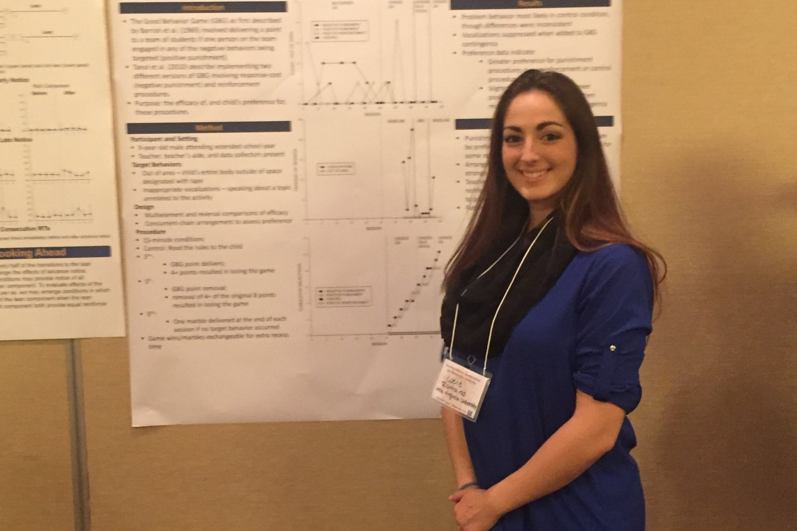 Lucie Romano  received her MS in 2018. Her thesis assessed curricular revision as a possible treatment for escape-maintained behavior. She is now an interventionist at FIT Learning Atlanta.