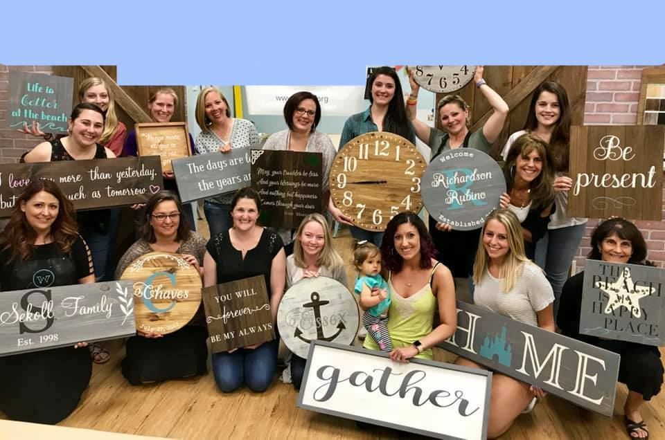 STUDIO PARTIES  Plan a private party, fundraiser, birthday party, or DIY workshop in our fun BYOB studio in Wallingford, Connecticut.    CLICK HERE FOR OUR CALENDAR    OR    CONTACT US TO LEARN MORE!