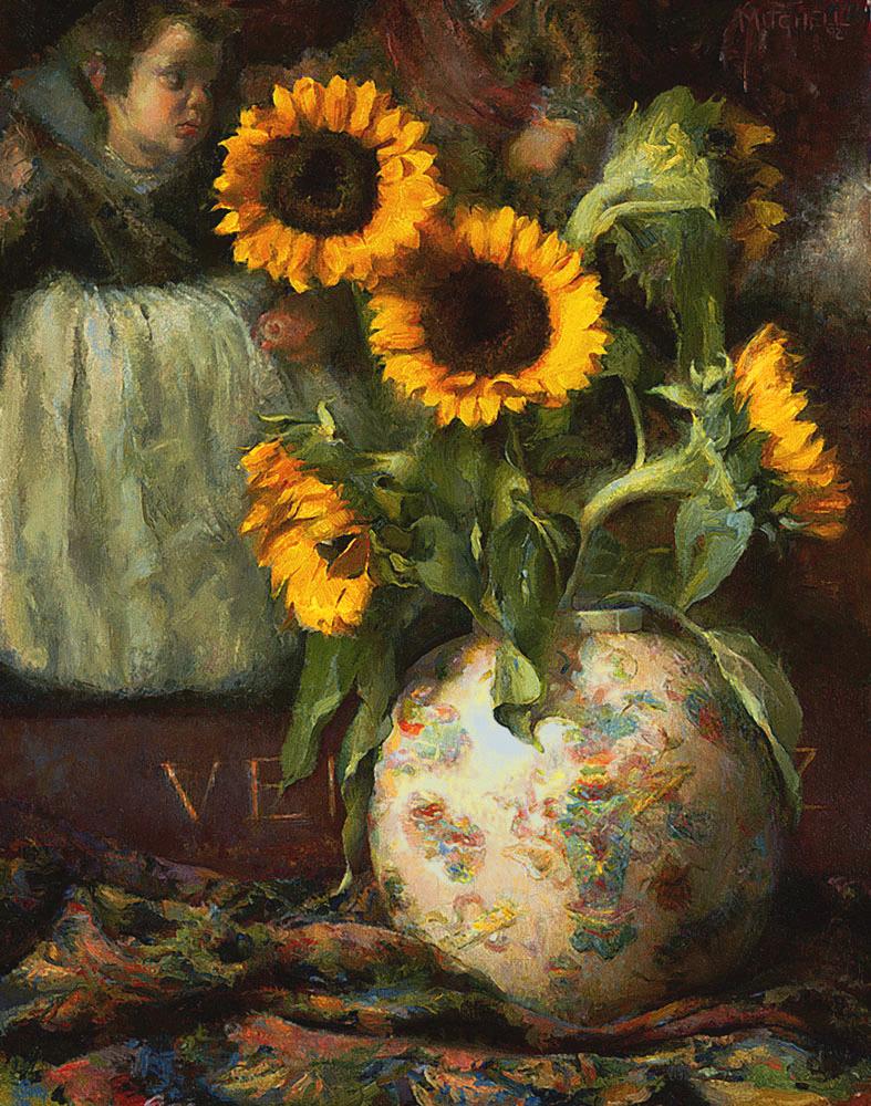 """Sunflowers in Light"""