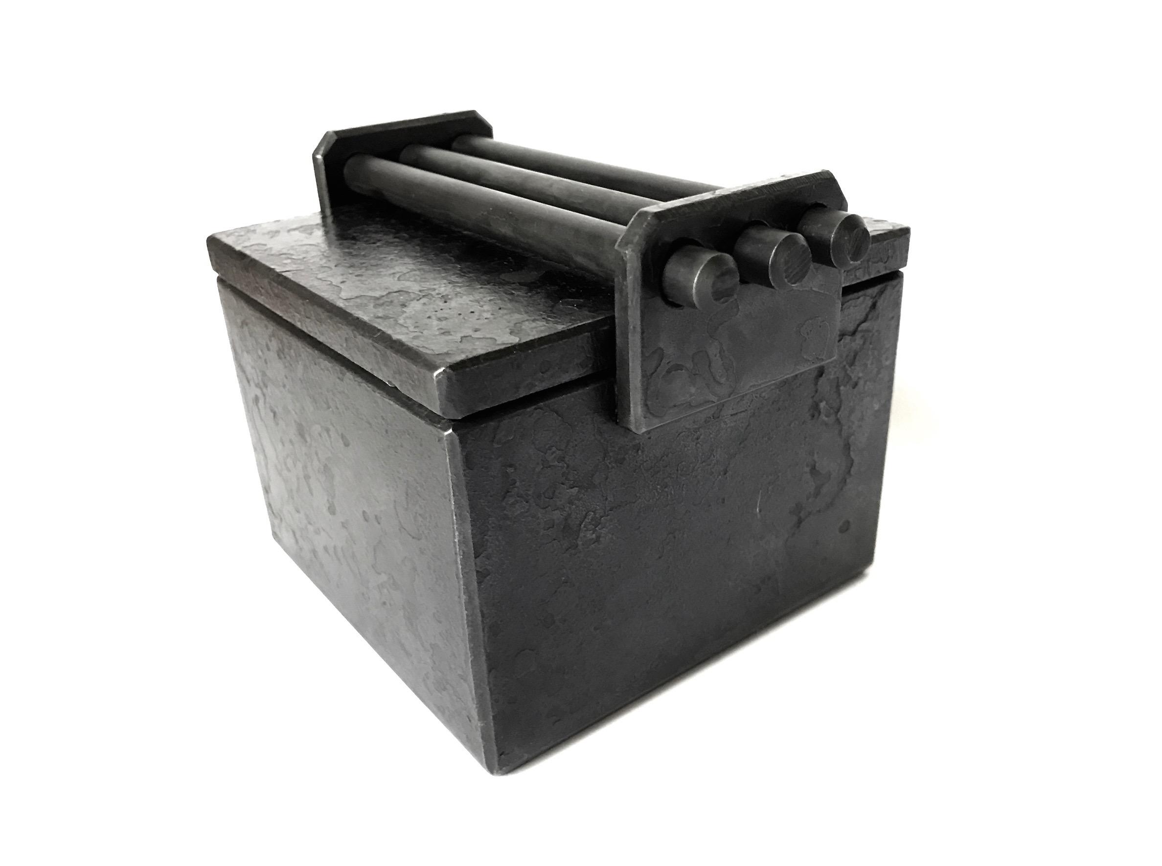 Pin Box blackened steel 4 x 4 x 4 in 2017