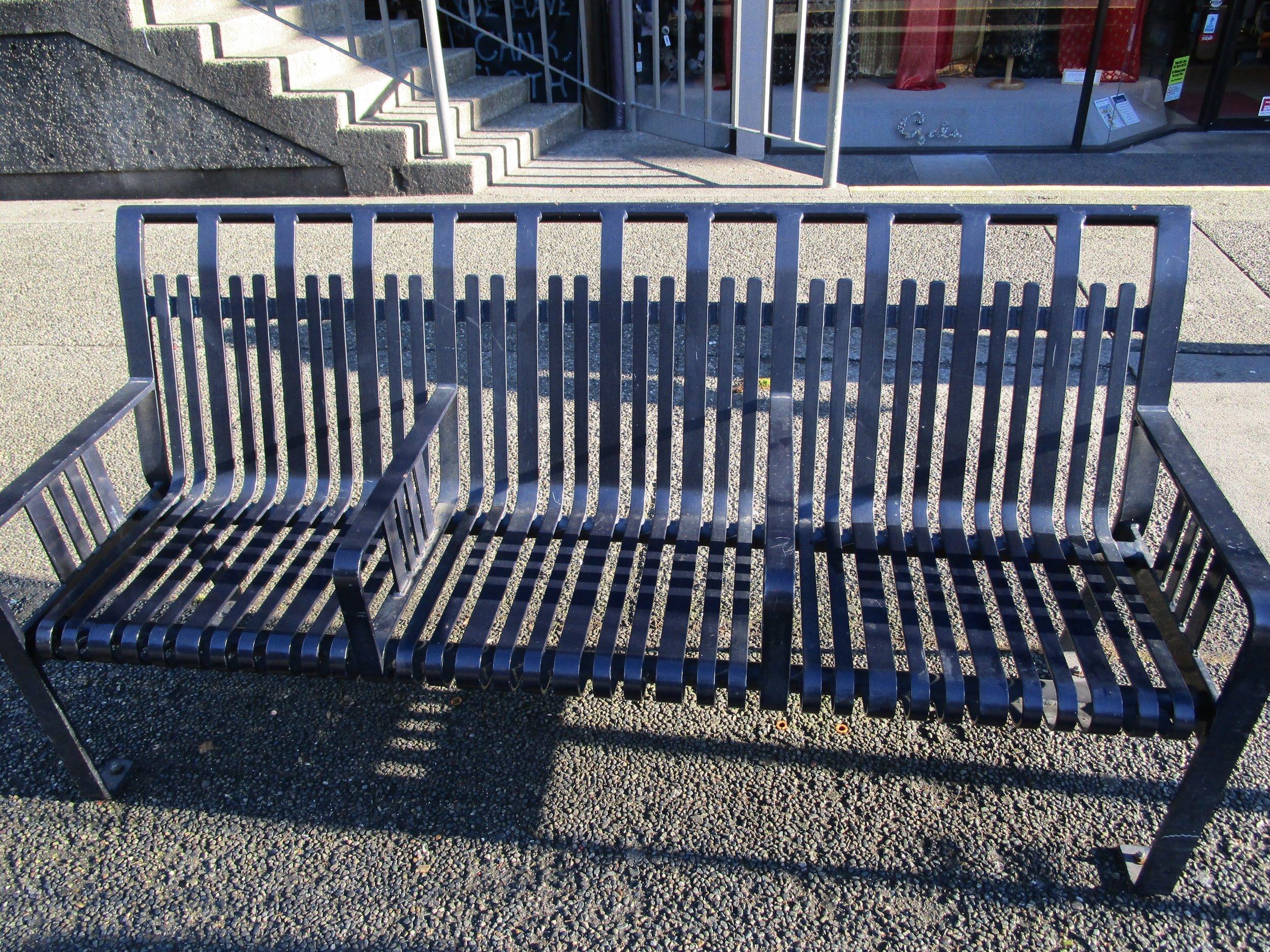 Un-sleepable benches