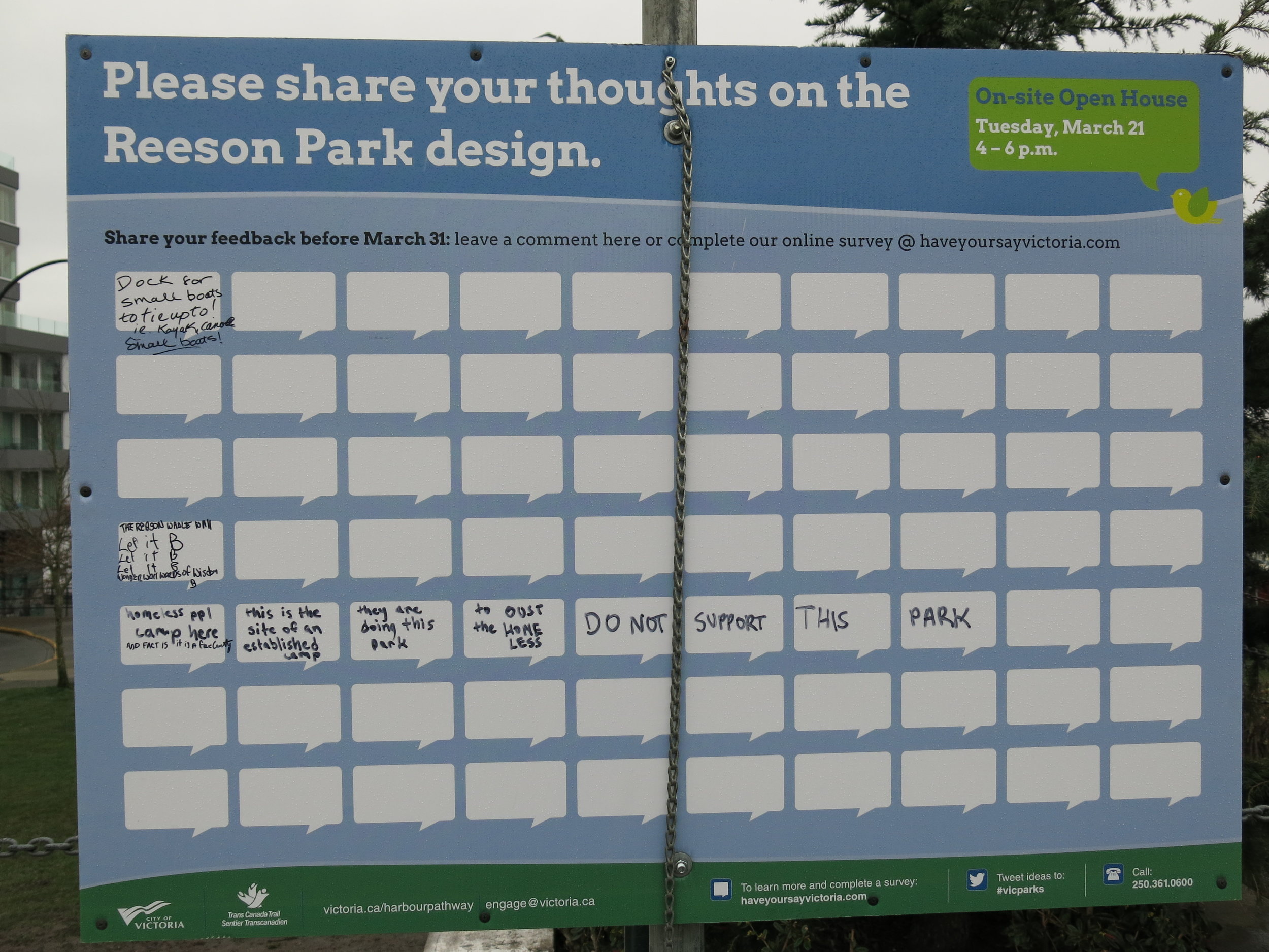 The latest feedback on the Reeson Park plan, Pt. 1