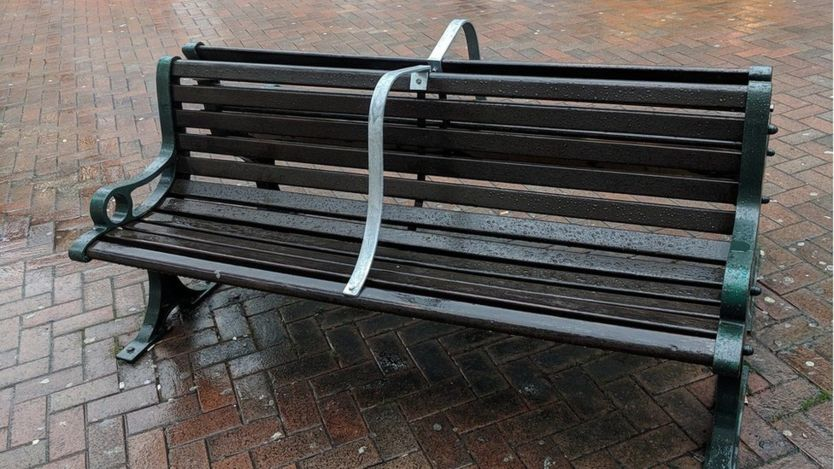 Bench in Bournemouth, U.K. Image Source: Stuart Semple, via the  BBC .