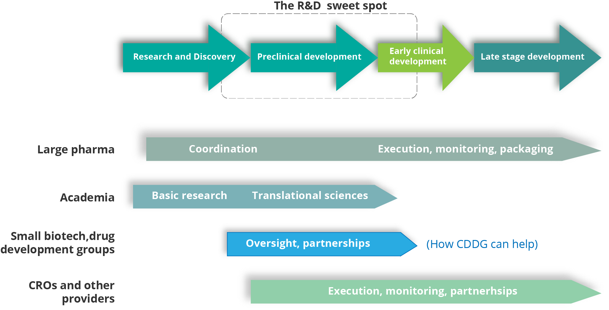 How CDDG fits into a new model for early drug development
