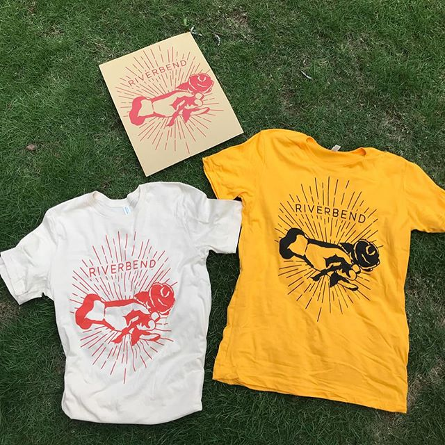 RIVERBEND MERCH SALE- Tag us in any post related to Riverbend starting tomorrow and through Tuesday to get 50% off a shirt- color of your choice 👘 #merch #sale #band #rockband #music #riverbend