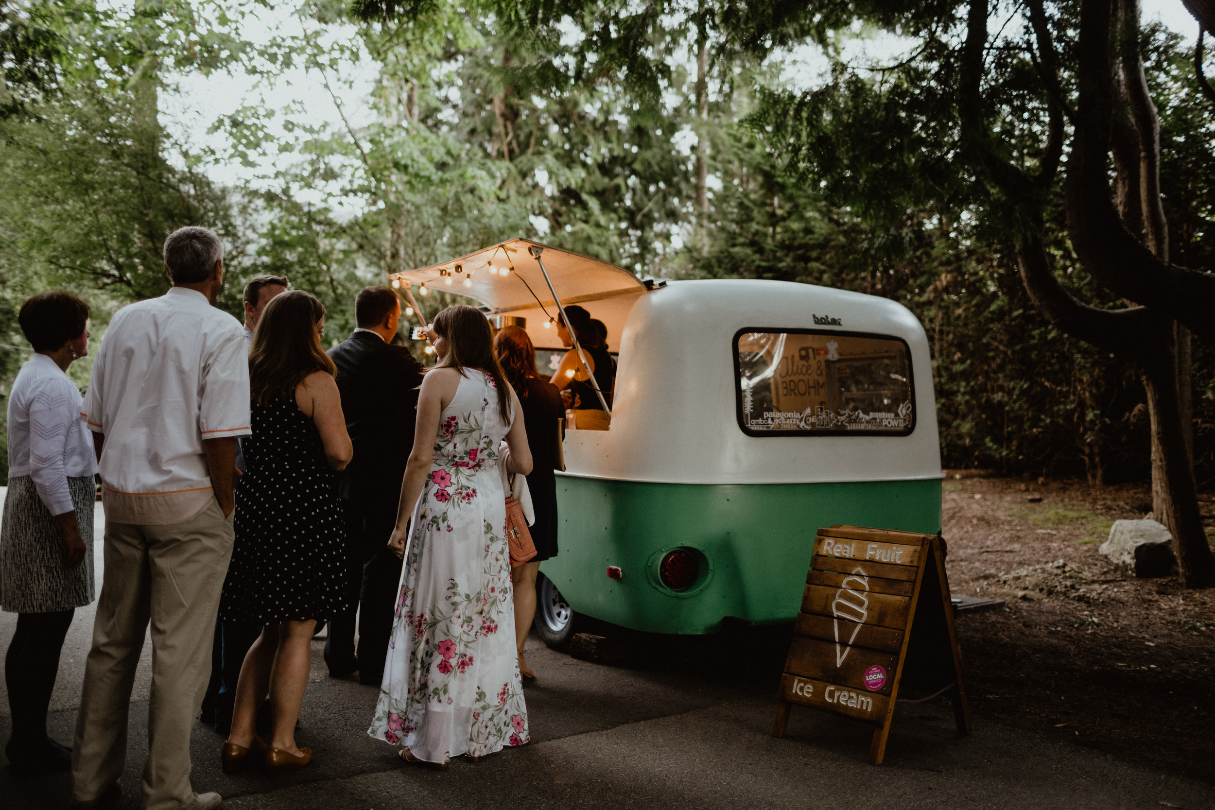 An ice cream truck at a wedding in Vancouver