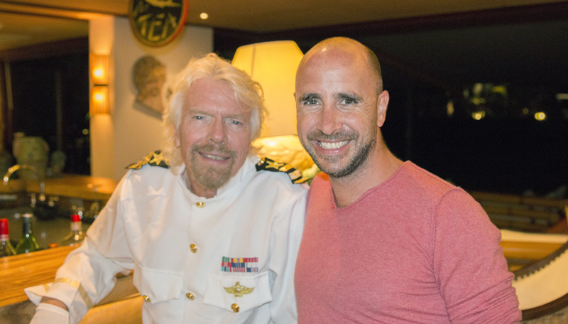 With Virgin Group Founder, Richard Branson o n Necker Island, British Virgin Islands