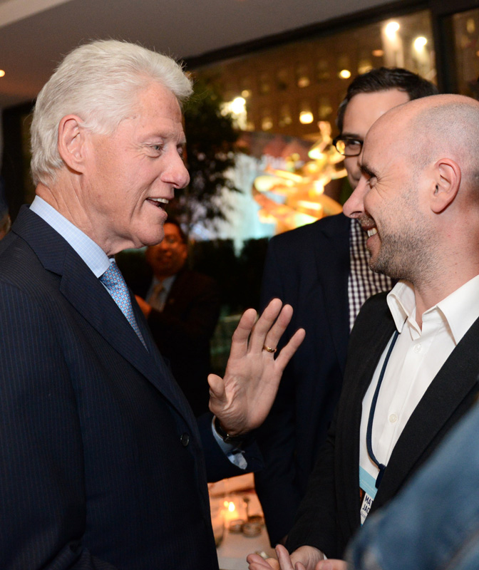 With US President, Bill Clinton in New York