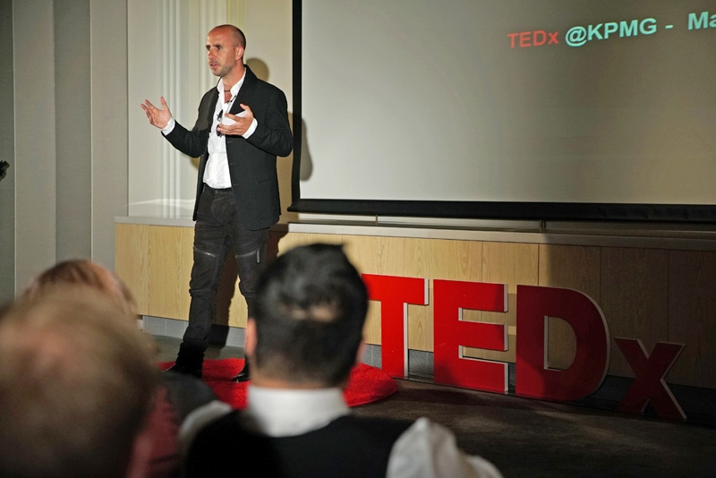 Presenting a TedTalk sponsored by KPMG