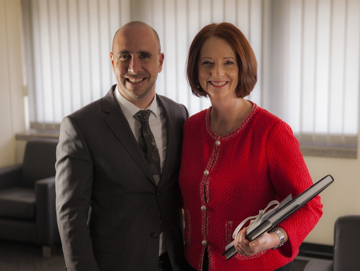 With former Prime Minister, t he Hon Julia Gillard MP