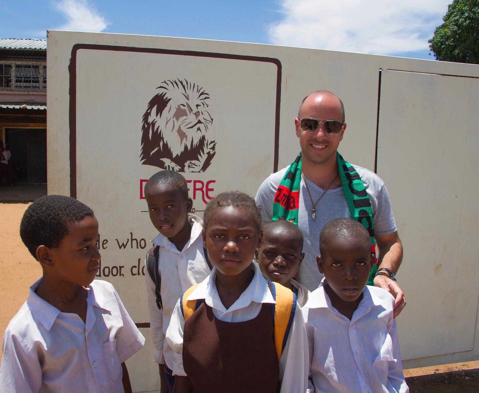 At Linda Community School, Zambia