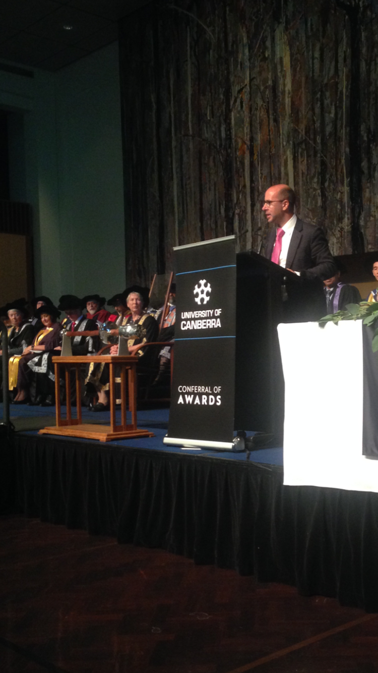 Occasional Address for Graduation at Parliament House