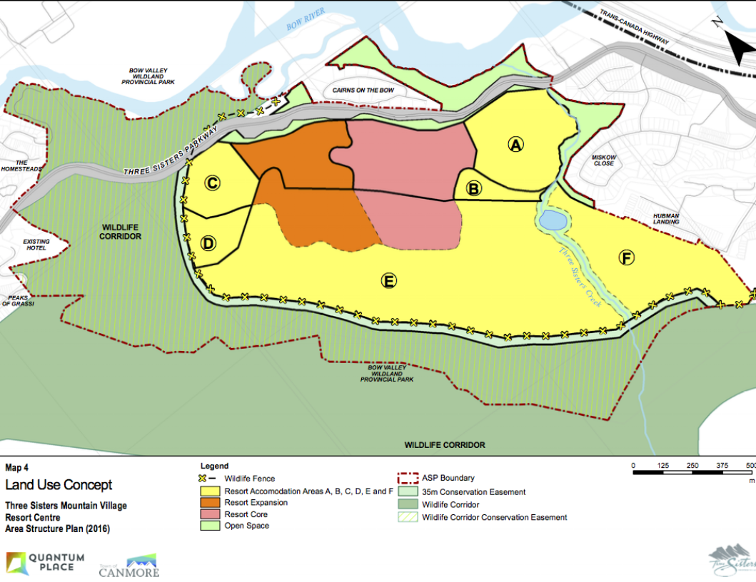 "The ""X""s on this map, which comes from the Resort Centre ASP Amendment of November 2016, show a section of the proposed fence."