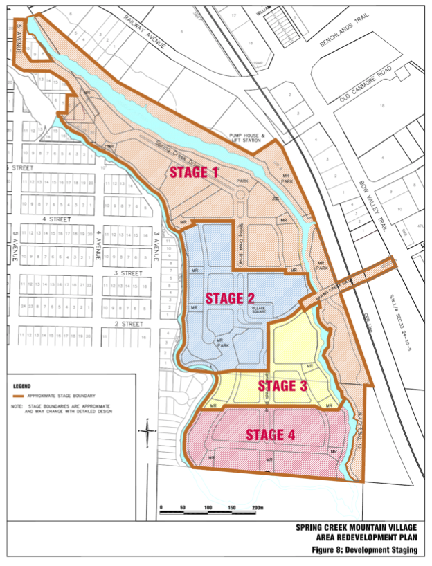 From the revised Spring Creek Area Redevelopment Plan of 2010.