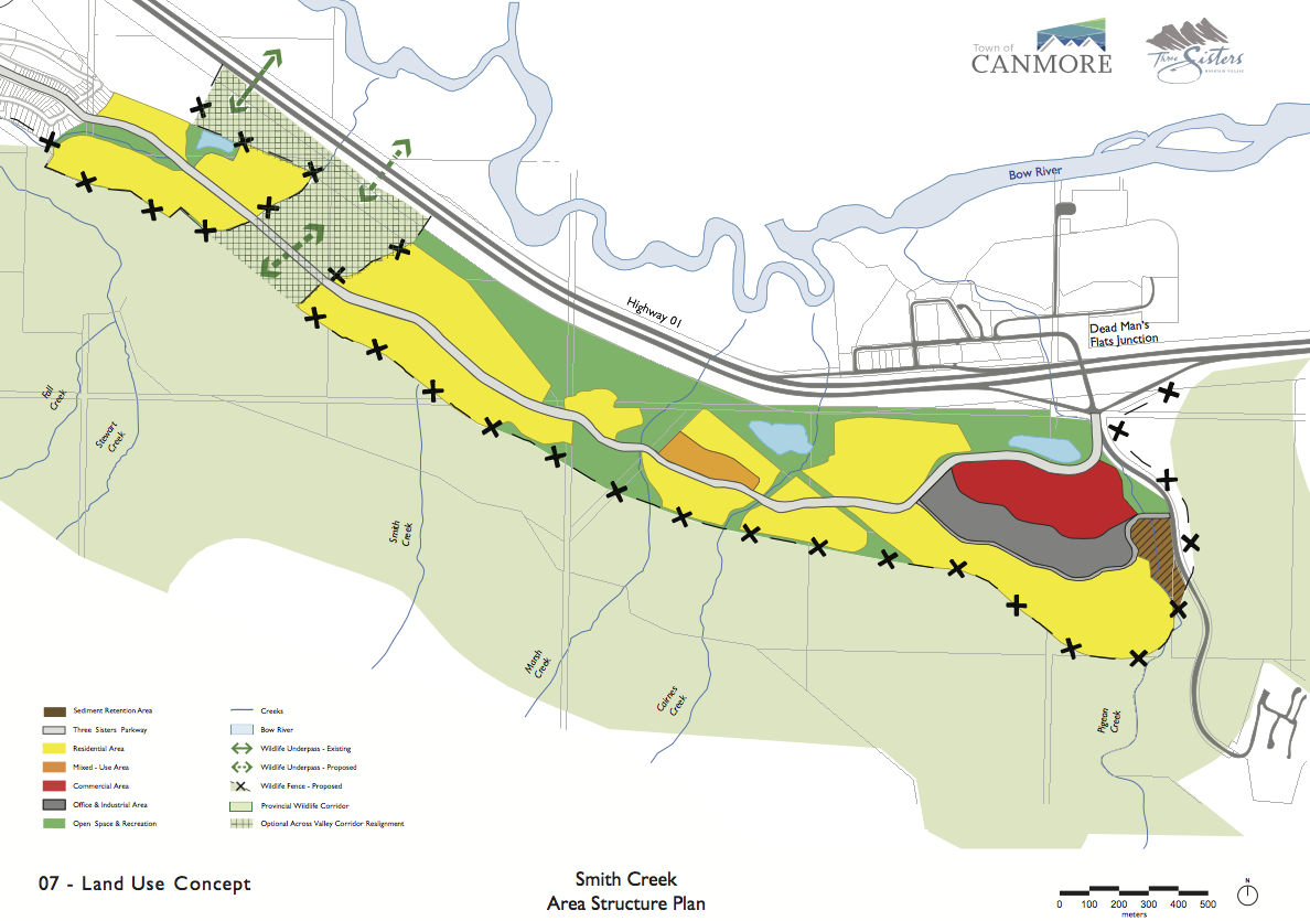 Development proposed in the Smith Creek ASP. Click to enlarge.
