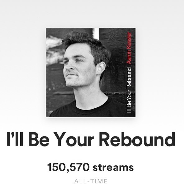 """I'll Be Your Rebound"" just passed 150,000 streams on @spotify ! That's over 27 million seconds of listening time 😮 Thank you all so much for continuing to listen! 🙏🏻 (Link in bio)"