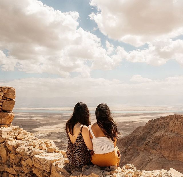 Looking out into the Dead Sea from Masada with my friend of 20 years. This trip has taken us to spiritual heaven and enlightened us each in unique ways. How lucky we are to have this rare opportunity to share such a profound experience together. 💛