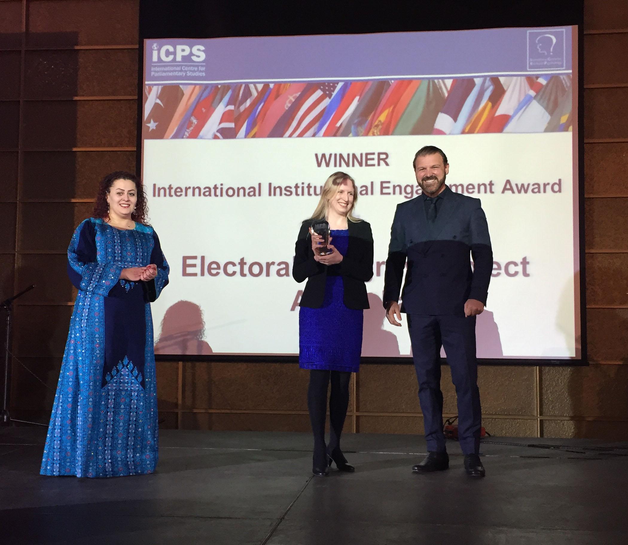 Dr Sarah Cameron receives the EIP award, Jordan