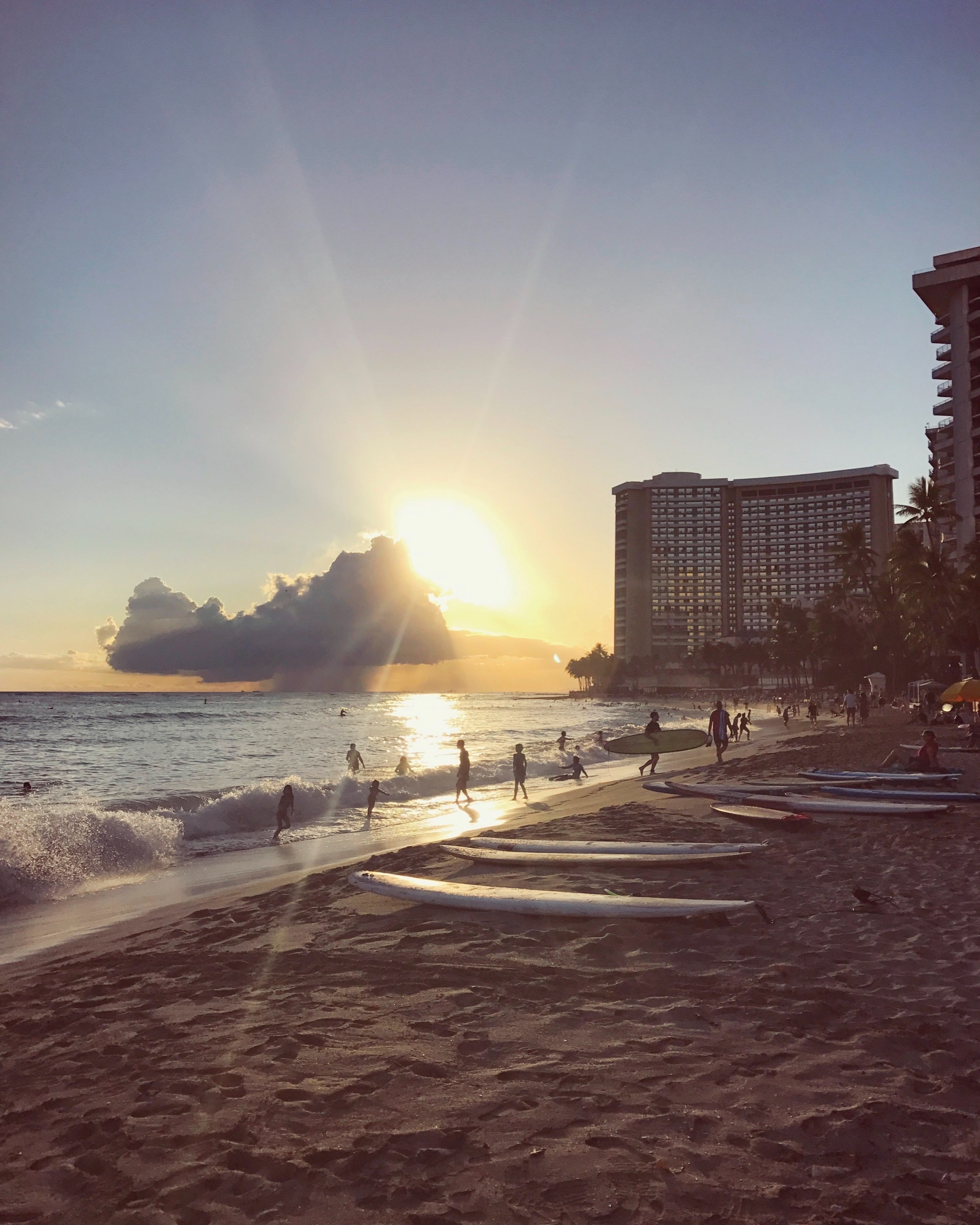 Waikiki Beachi, Oahu, Hawaii