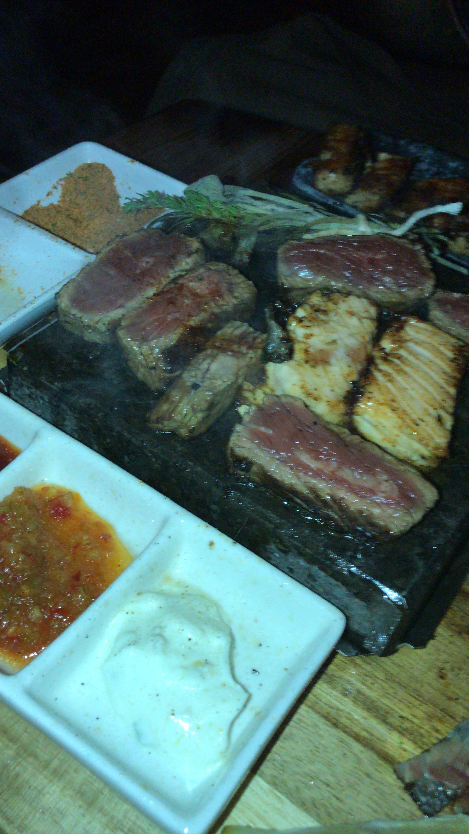 Steak, Chicken & Fish