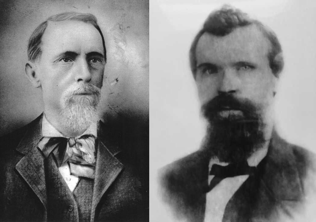 Daniel McCorriston of Molokai (1840-1927) (L) and Daniel McCorriston of Honolulu (1845-1899) (R)