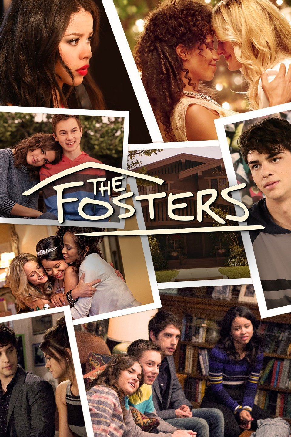 Collage of the Adams Foster family,  The Fosters