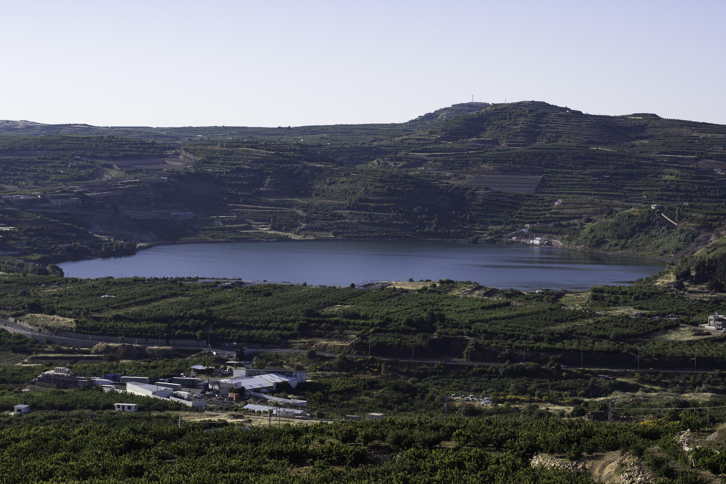 The crater lake Birkat Ram