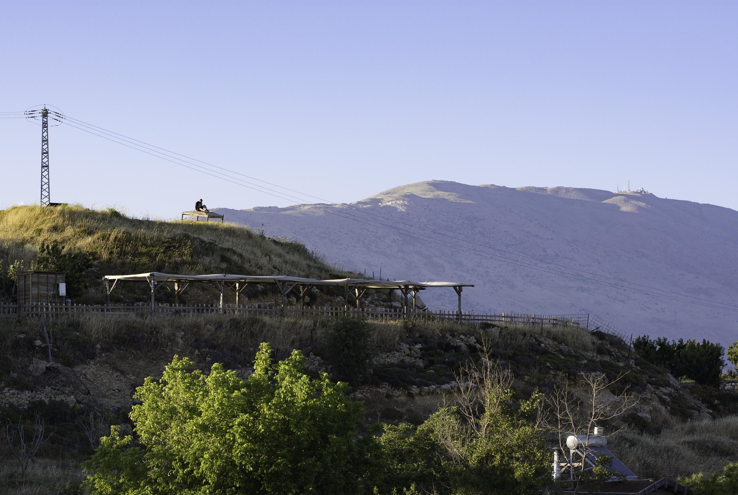 views of the Hermon mountain