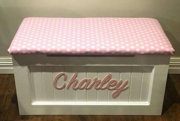 Pink white spot polka dot toy box.png