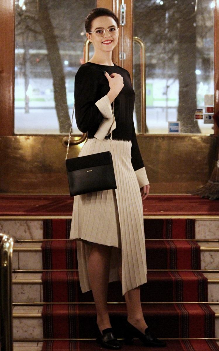 House of Dagmar dress, Balmuir bag, ATP Atelier shoes