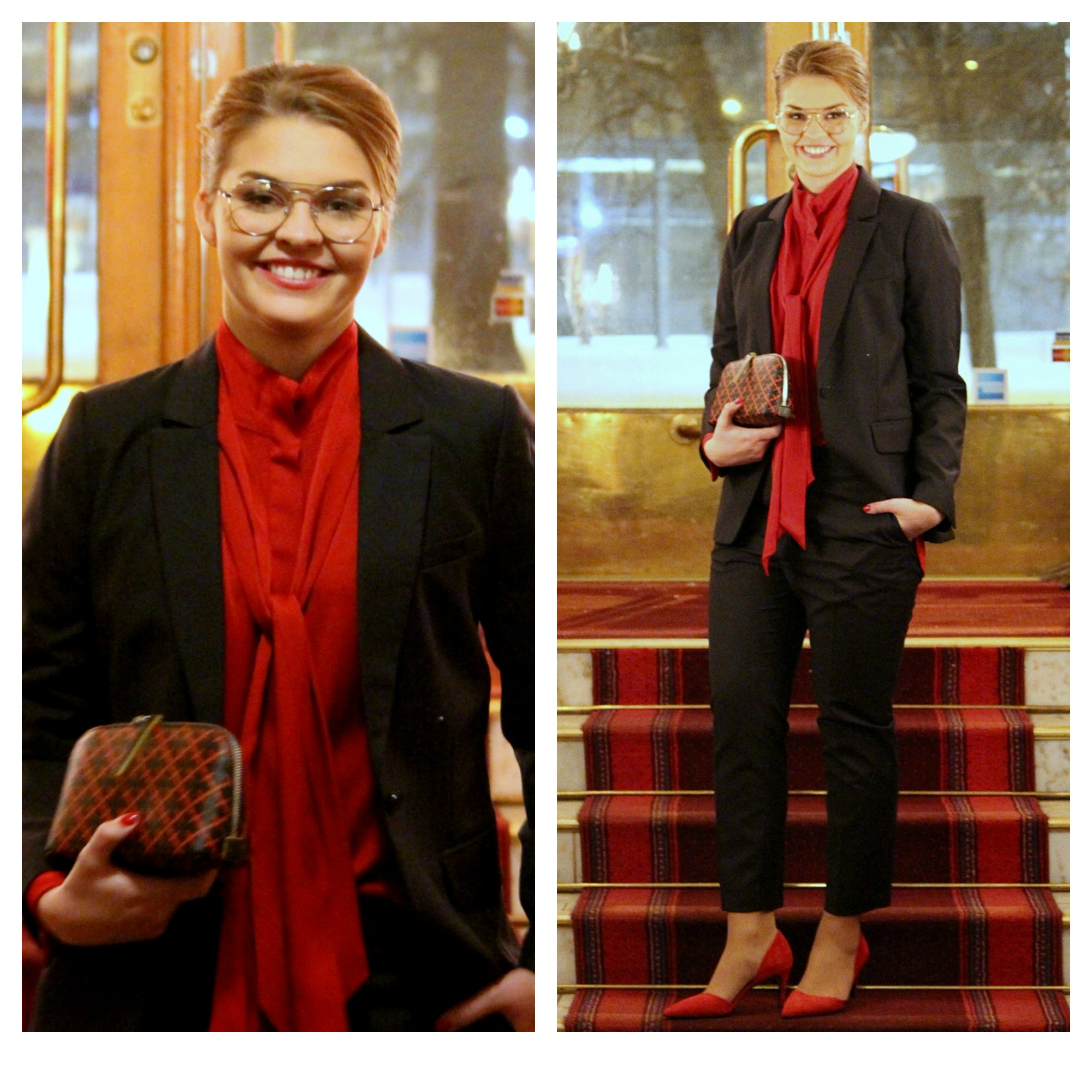 By Malene Birger blazer & trousers & shirt & shoes & purse