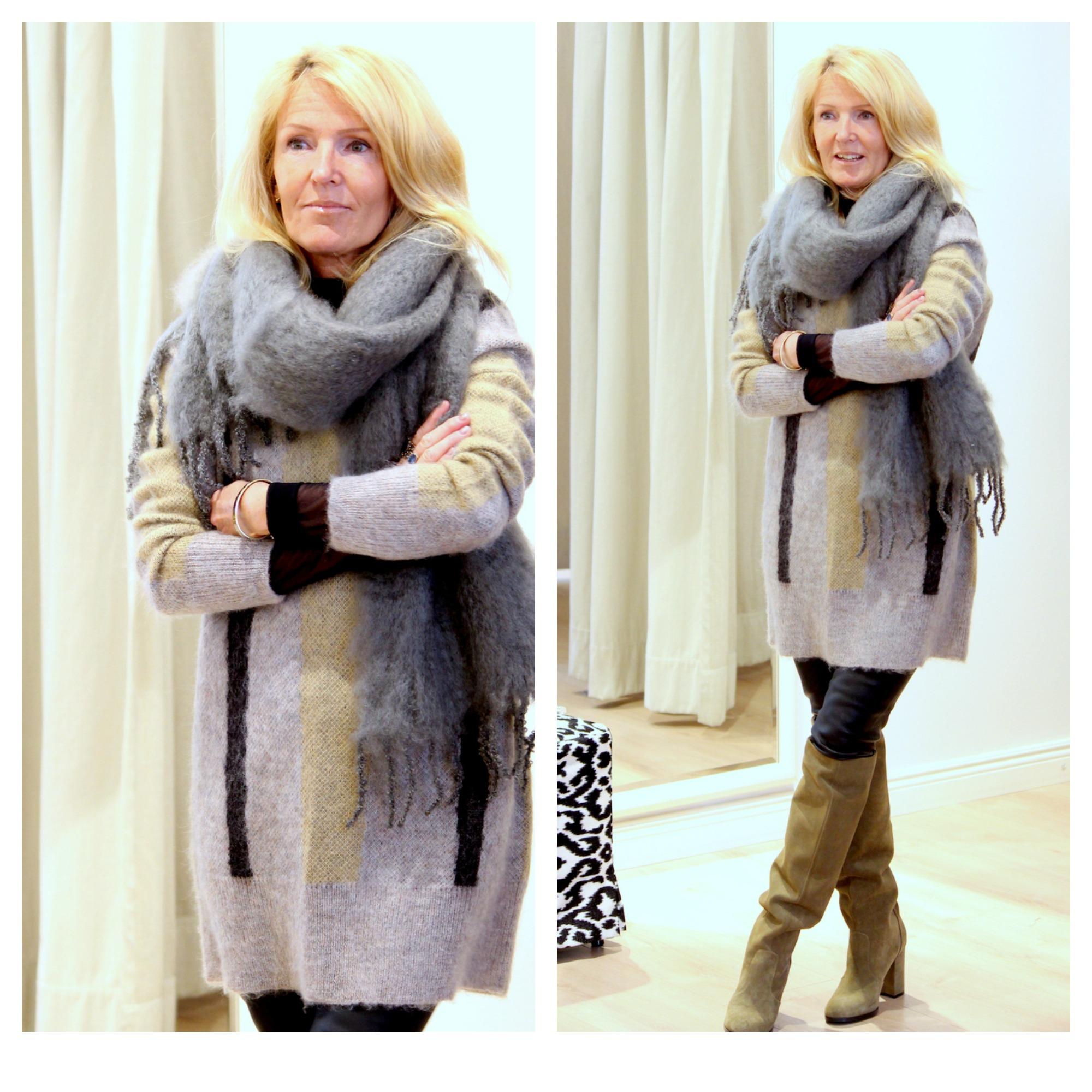By Malene Birger sweater -50%  Balmuir kidmohair scarf, afKlingberg boots