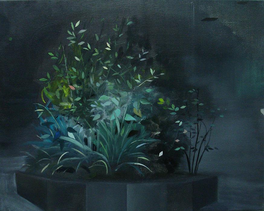 City Garden    2010, oil on canvas, 24 x 30cm