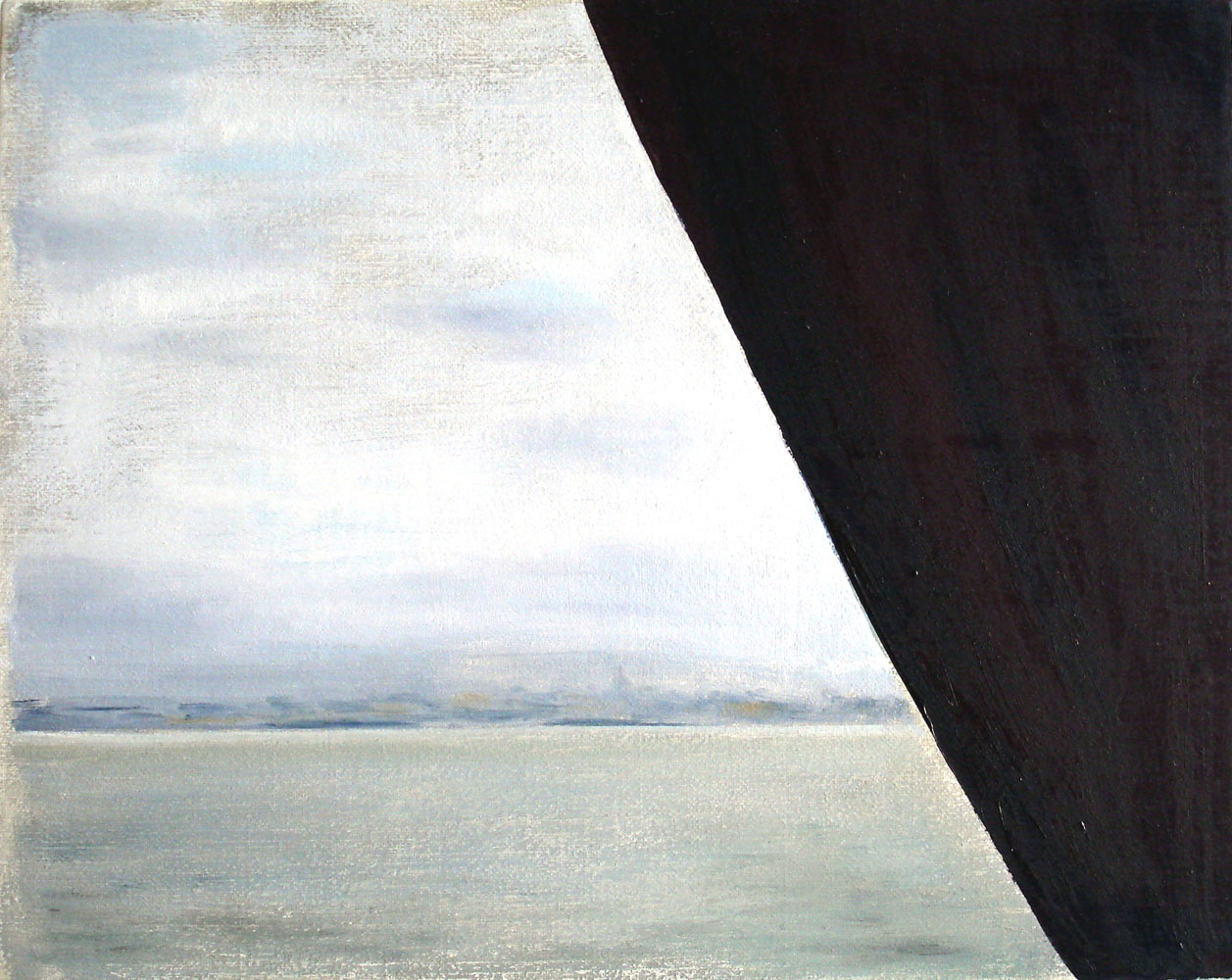 Winter Ferry    2007, oil on canvas, 24 x 30cm