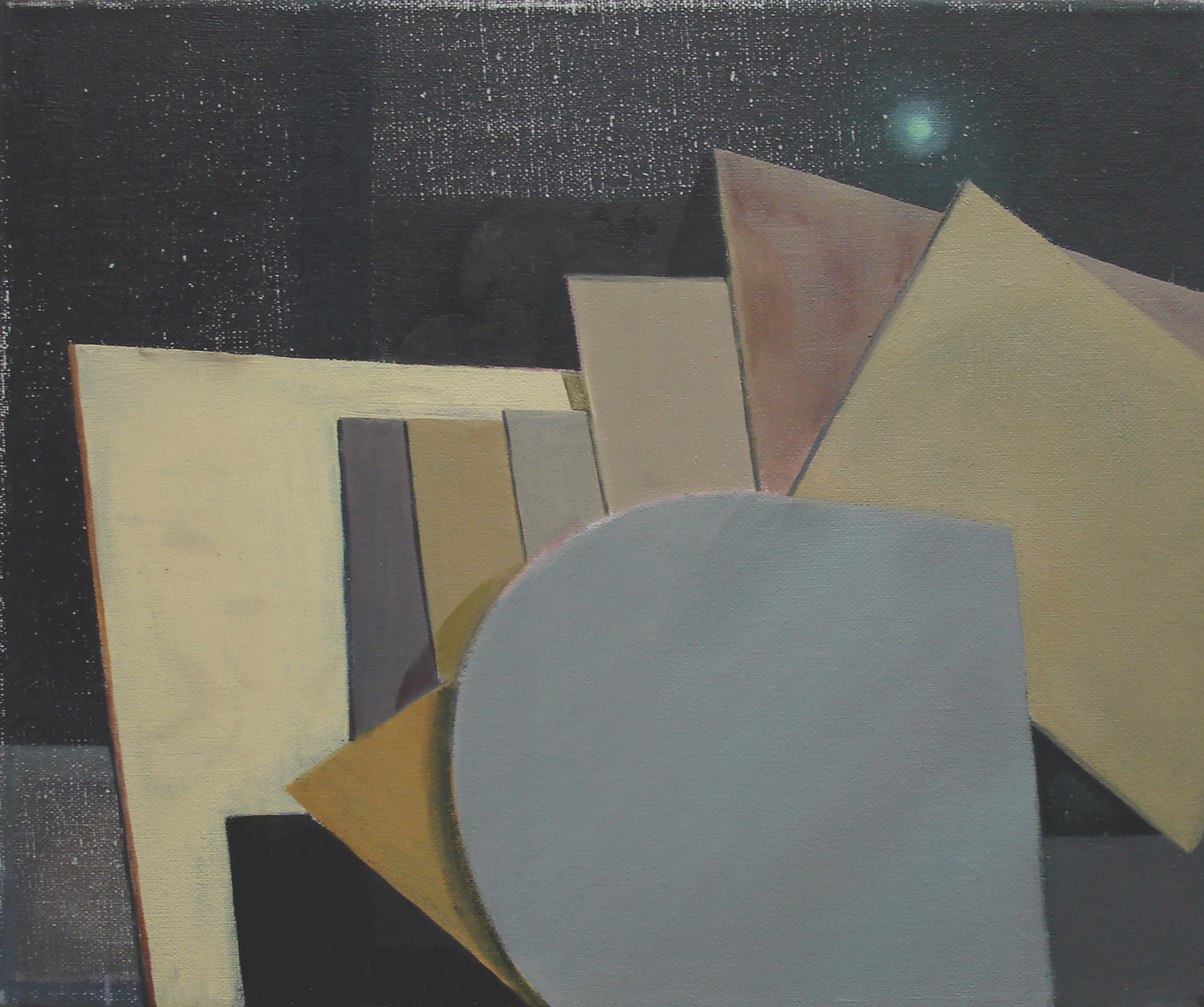 Boards    2011, oil on canvas, 25 x 30cm