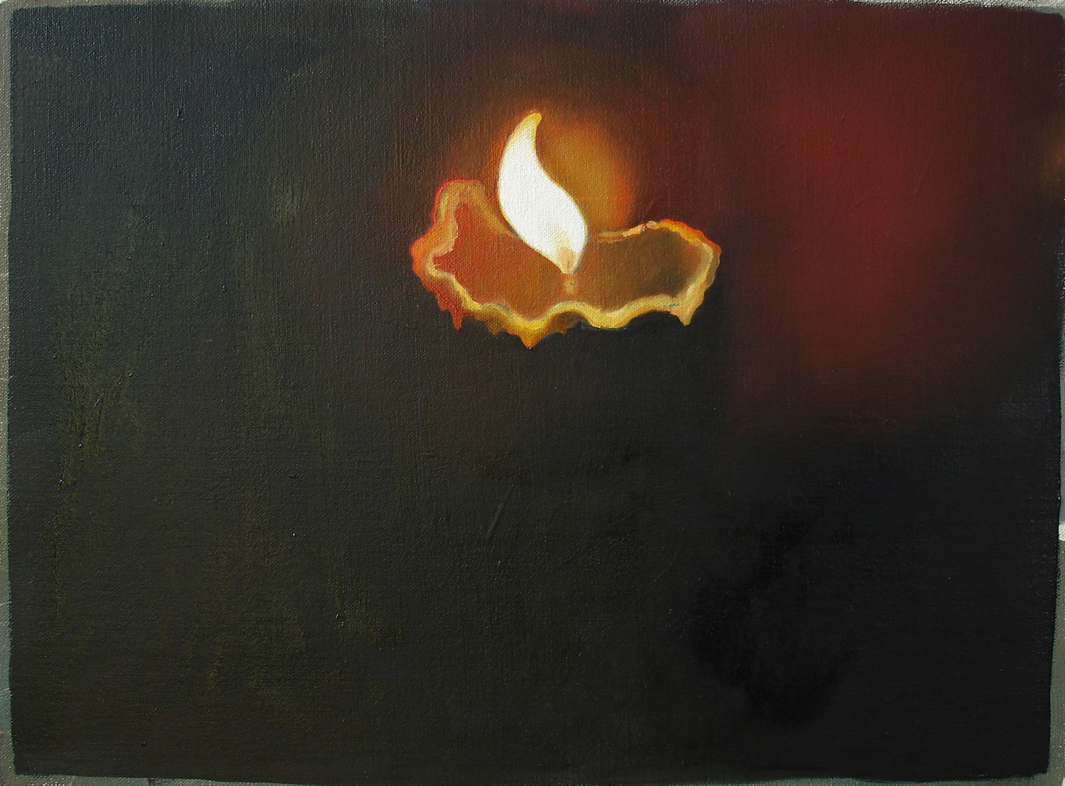 Candle    2007, oil on canvas, 24 x32cm