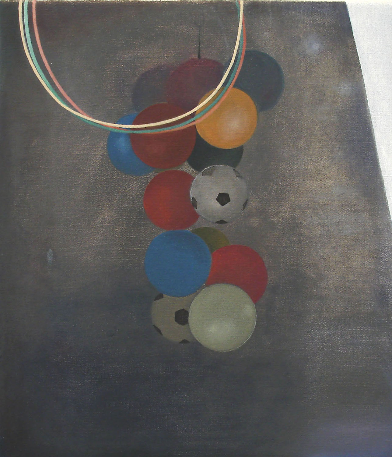 Hoops    2011, oil on canvas, 40 x 35cm