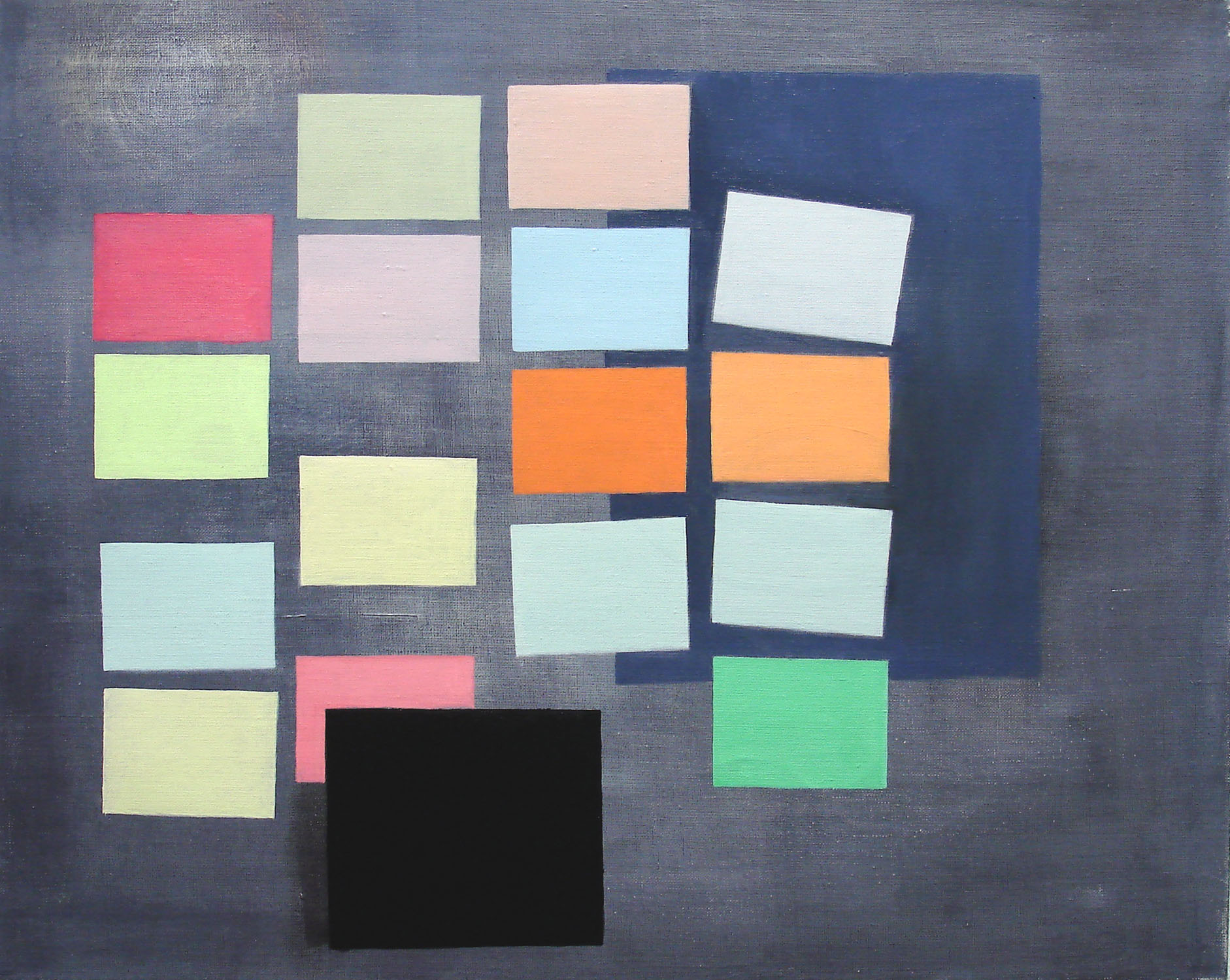 Notices & Screen    2012, oil on canvas