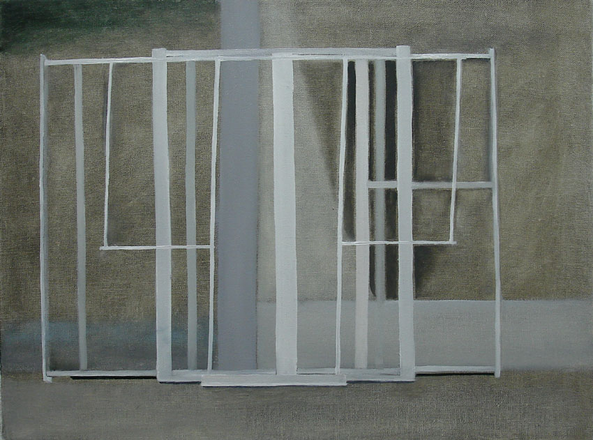 Window Frames    2011, oil on canvas, 30 x 40cm