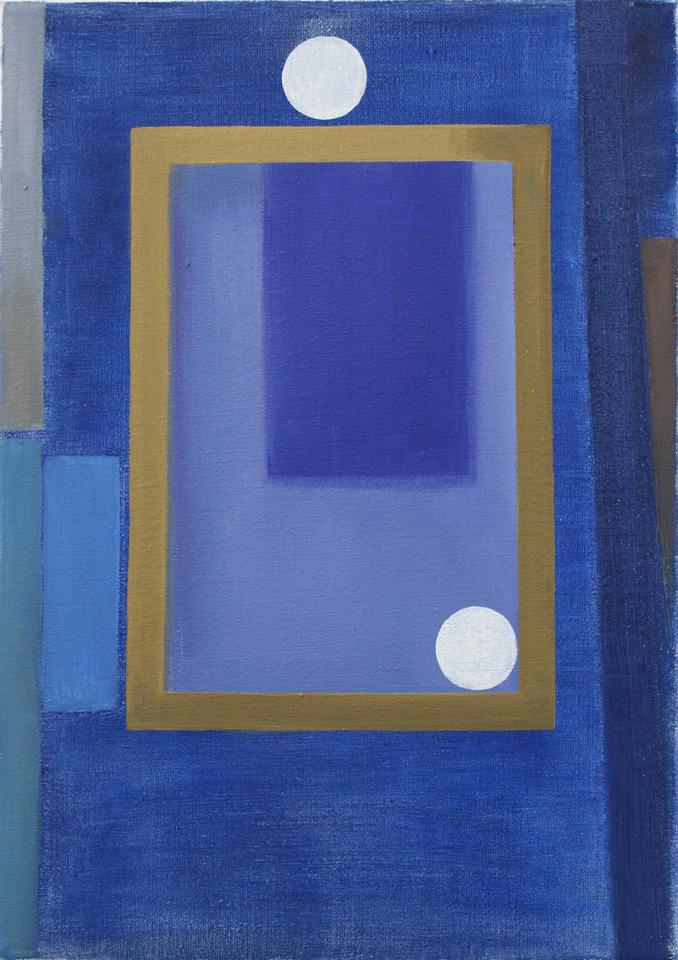 Glass Case & Faded Paper    2014, oil on canvas, 35 x 25cm