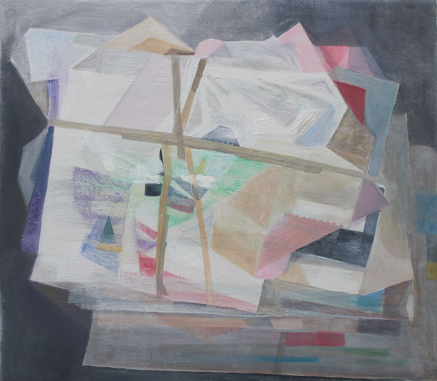 Taped Boxes    2018, oil on canvas, 35 x 40cm