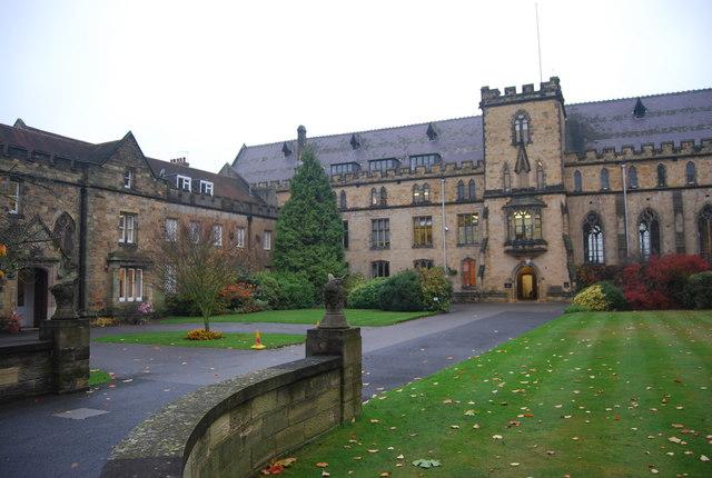 The beautiful school grounds