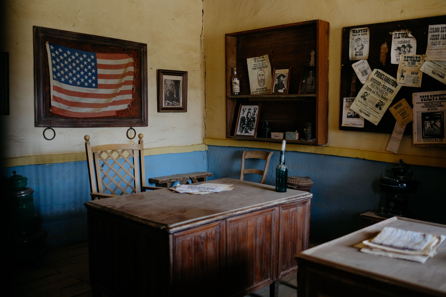 The interior of the sheriff's office, as in Sergio Leone's  For a Few Dollars More .