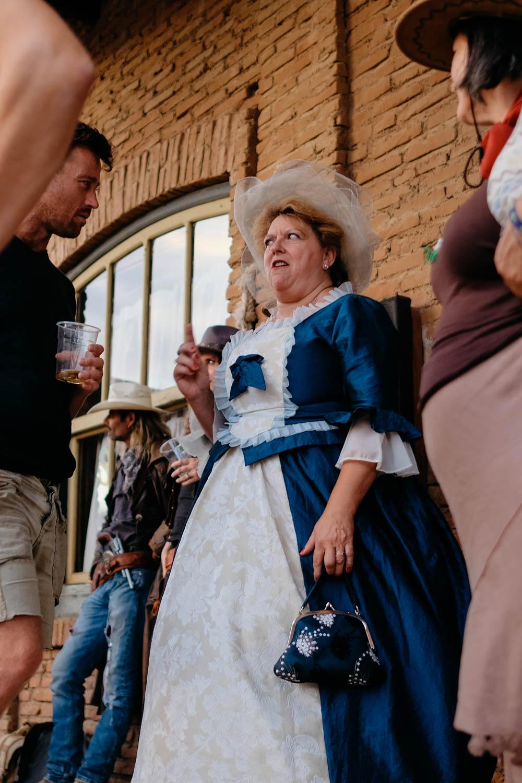 Western fans dress up for the Almeria Western Film Festival.