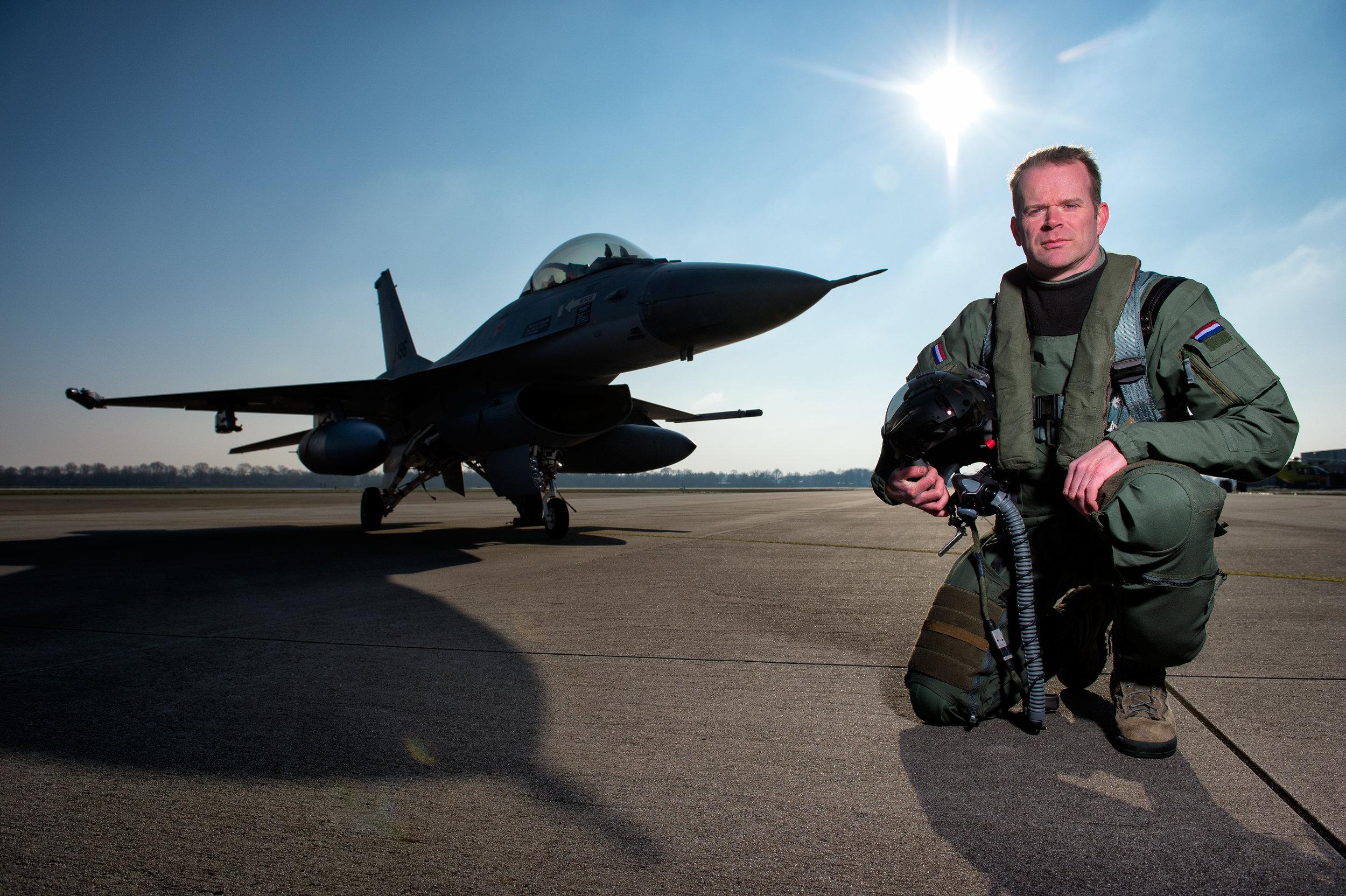 Dutch F-16 fighter pilot