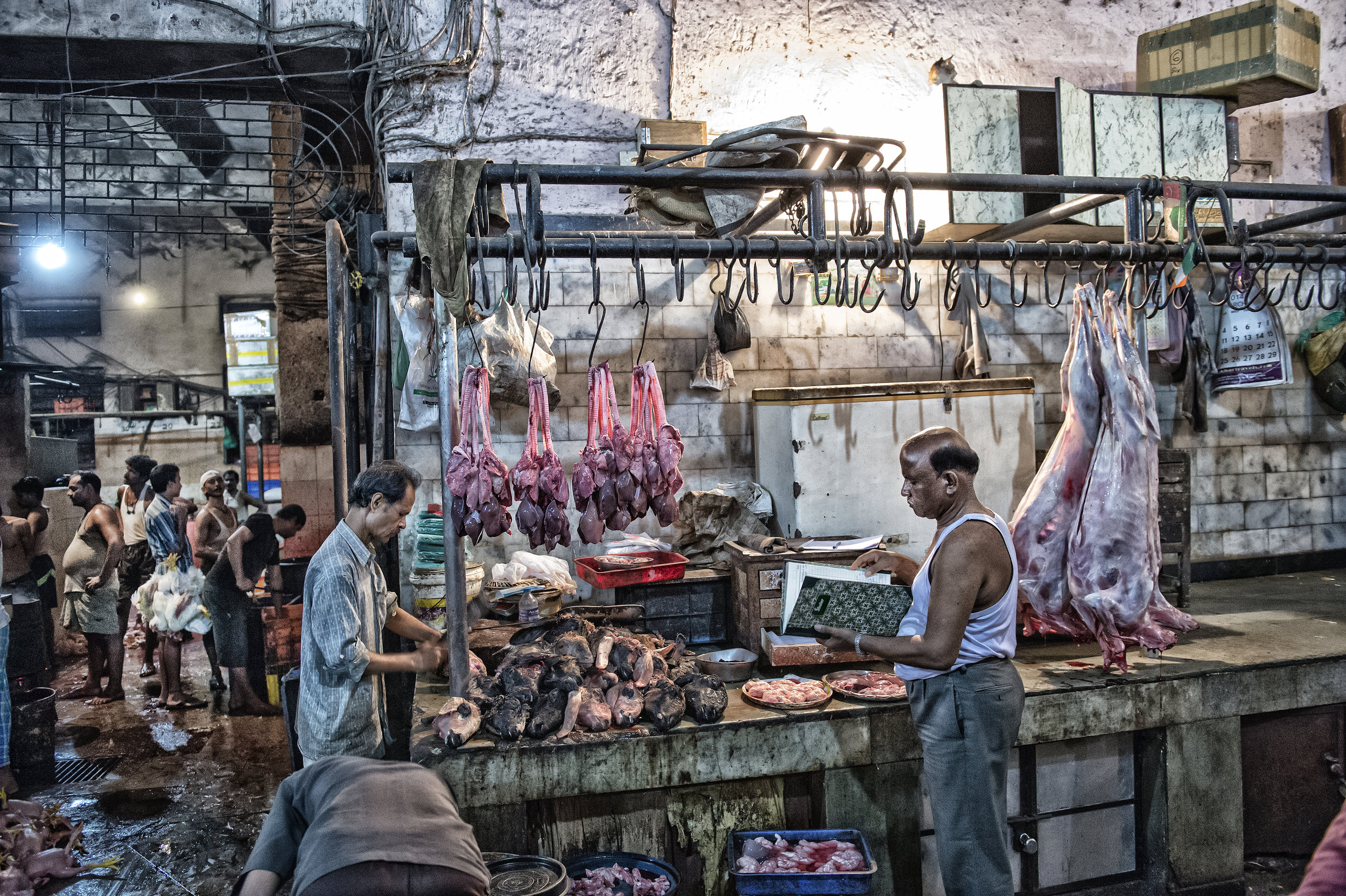 Butchery 5 AM in the morning in Mumbai India for National Geographic