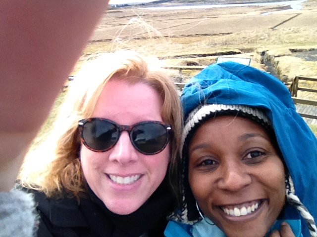 Cindy and Willona in Iceland