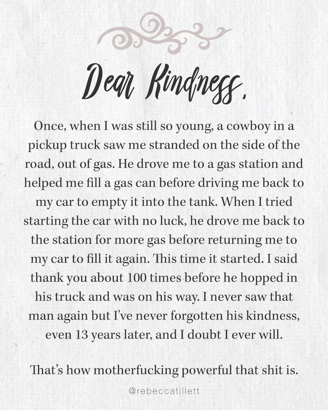 Dear Kindness
