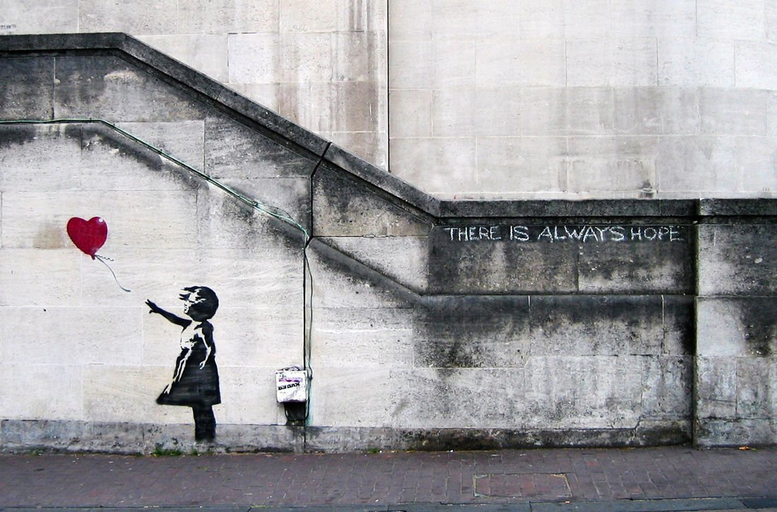 Banksy,  Balloon Girl