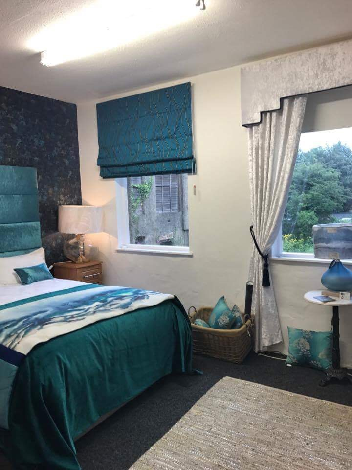 Headboard, Roman Blind,, Cushions, Bed Runner and Lamps available to order